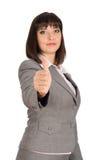 Donna di affari che dà bene Immagini Stock