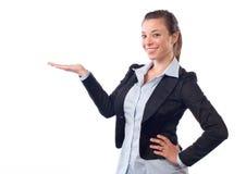 Donna di affari che dà mano Immagine Stock