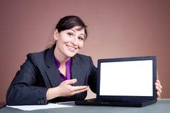Donna di affari che dà una presentazione Immagine Stock