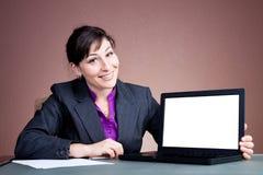 Donna di affari che dà una presentazione Fotografia Stock