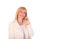 Donna di affari che fa chiamata fotografie stock libere da diritti