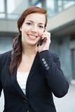 Donna di affari che fa chiamata di telefono Immagine Stock Libera da Diritti