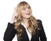 Donna di affari che fa un'innovazione Fotografia Stock