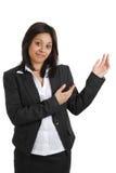 Donna di affari che fa una presentazione Immagini Stock Libere da Diritti