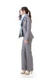 Donna di affari che guarda avanti immagine stock libera da diritti