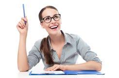 Donna di affari che ha un'idea Immagine Stock