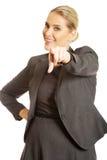 Donna di affari che indica voi Fotografia Stock Libera da Diritti