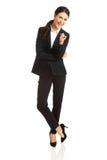 Donna di affari che indica voi Fotografie Stock