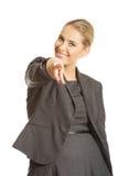 Donna di affari che indica voi Fotografie Stock Libere da Diritti