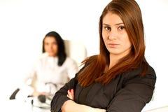 Donna di affari che lavora 1 Immagini Stock Libere da Diritti