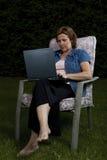 Donna di affari che lavora dalla casa Immagine Stock Libera da Diritti