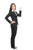 Donna di affari che mostra lo spazio della copia Fotografie Stock Libere da Diritti