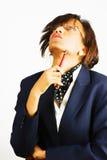 Donna di affari che osserva in su Fotografie Stock