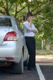 Donna di affari che parla sul telefono mobile Immagine Stock Libera da Diritti