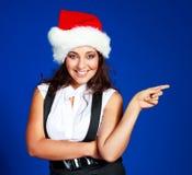 Donna di affari che porta il cappello della Santa Fotografie Stock Libere da Diritti