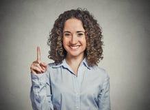 Donna di affari che precisa siamo numero uno Immagine Stock Libera da Diritti