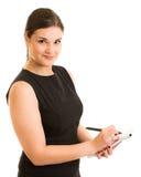Donna di affari che prende le note Immagine Stock