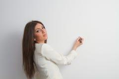 Donna di affari che presenta 1 Immagini Stock