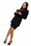 Donna di affari che texting Immagini Stock Libere da Diritti