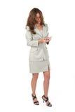 Donna di affari che usando PDA 5 Fotografia Stock