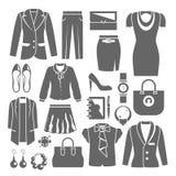 Donna di affari Clothes Set Fotografia Stock