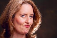 Donna di affari compiaciuta Fotografia Stock Libera da Diritti