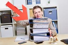 Donna di affari con burnout Fotografie Stock Libere da Diritti