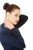 Donna di affari con dolore alla schiena Fotografia Stock Libera da Diritti