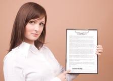 Donna di affari con gli archivi Immagini Stock
