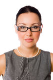 Donna di affari con gli occhiali Fotografie Stock