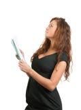 Donna di affari con i documenti Fotografie Stock Libere da Diritti