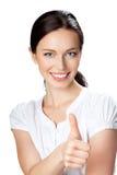 Donna di affari con i pollici in su Fotografia Stock Libera da Diritti
