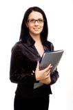 Donna di affari con i vetri Immagini Stock Libere da Diritti