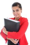 Donna di affari con il libro Fotografie Stock Libere da Diritti
