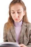 Donna di affari con il rilievo di nota Fotografia Stock Libera da Diritti