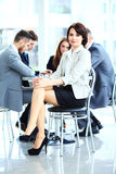 Donna di affari con il suo personale Fotografia Stock Libera da Diritti