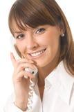 Donna di affari con il telefono Immagini Stock