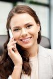 Donna di affari con il telefono delle cellule Immagini Stock Libere da Diritti