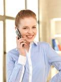 Donna di affari con il telefono delle cellule Immagine Stock