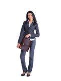Donna di affari con la cartella fotografie stock libere da diritti