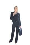 Donna di affari con la cartella Immagine Stock