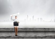 Donna di affari con la freccia Fotografia Stock Libera da Diritti