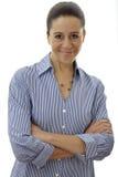 Donna di affari con le braccia attraversate Fotografia Stock