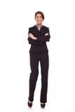 Donna di affari con le braccia attraversate Fotografie Stock Libere da Diritti