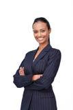 Donna di affari con le braccia piegate fotografia stock