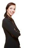 Donna di affari con le sue braccia attraversate Fotografia Stock
