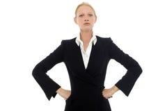 Donna di affari con lo sguardo serio Immagine Stock Libera da Diritti