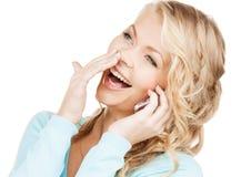 Donna di affari con telefono cellulare la chiamata Immagine Stock Libera da Diritti