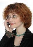 Donna di affari con un cellulare Immagine Stock Libera da Diritti
