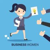 Donna di affari con un'idea Fotografie Stock Libere da Diritti